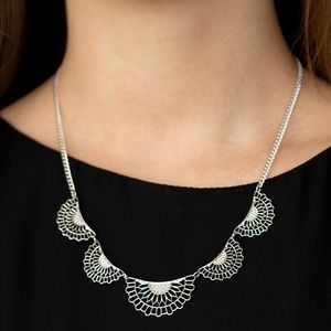 Fanned Out Fashion silver necklace